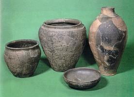 Hrazany - jemná a užitková keramika z 2. - 1. století (podle Drdy - Rybové)