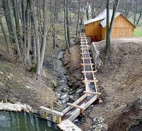 Pila na vodní pohon z Dolní Sloupnice - vantroky